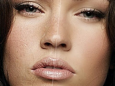 Photoshop Tutorial : How to soften skin (with Megan Fox)