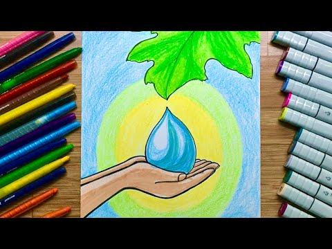 Ý tưởng vẽ tranh vì môi trường tương lai #46   Chung tay bảo vệ môi trường nước