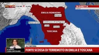 Terremoto, forte scossa in Toscana. Trema anche l'Emilia