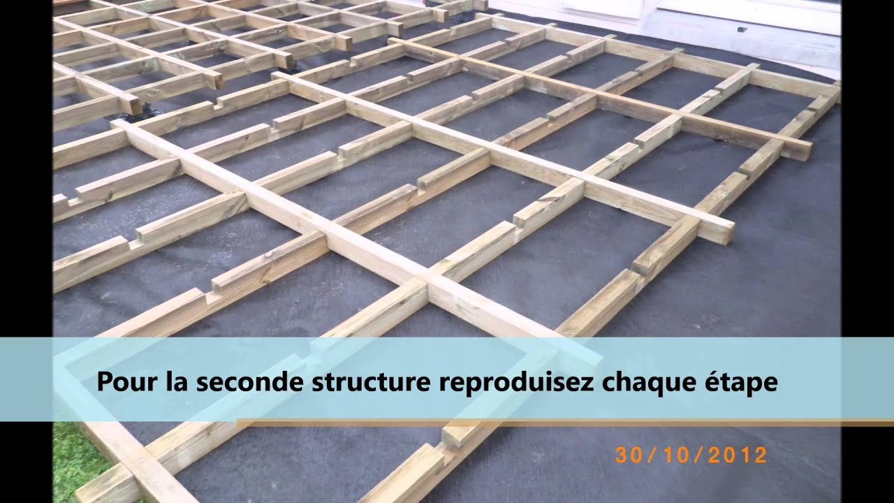 montage d 39 une structure pour terrasse en bois ou composite youtube. Black Bedroom Furniture Sets. Home Design Ideas