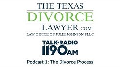 The Texas Divorce Lawyer Podcast 1: The divorce process in Texas