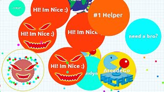 AGARIO TROLLING WITH SPAWNER EATING TEAM IN EXPERIMENTAL MODE Agar.io Funny Moments!