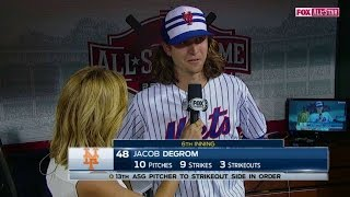 2015 ASG: deGrom discusses striking out the side