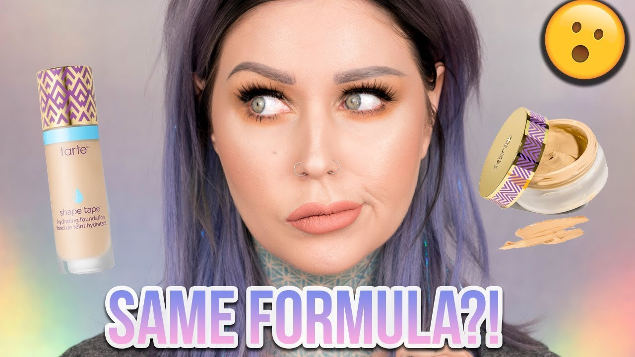 STOLEN FORMULA?! Tarte Shape Tape Foundation & Hybrid Gel Comparison/Review