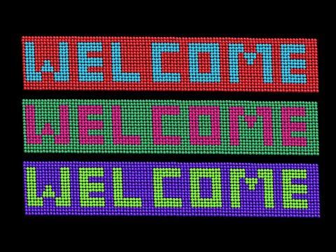 How To Make Welcome Sign With Beads || WELCOME Door Mats | Doormat DIY