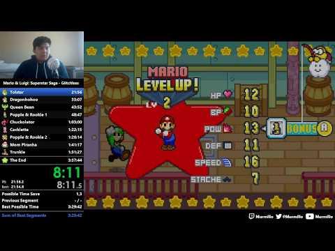 (Old WR) Mario & Luigi: Superstar Saga Glitchless Speedrun in 3:36:37