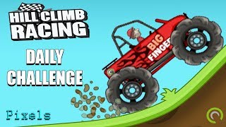 Hill Climb Racing - Daily Challenge with Big Finger