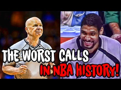Thumbnail: The 12 Most RIDICULOUS Calls In NBA History!