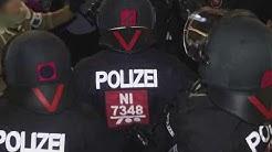 2017-12-09 Auseinandersetzung der Demo nach Hausdurchsuchungen in Göttingen mit der Polizei