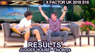 RESULTS Judges House THE BOYS Who Advanced to Live Shows?  X Factor UK 2018