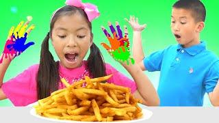 """Bài hát """" Đã Đến Lúc Ăn Trưa"""" ! Đồ chơi sắc màu. Wendy hát theo bài hát thiếu nhi vui nhộn"""