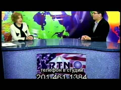 Aza Sydykov at RTN Channel TV show with Maya Pritsker