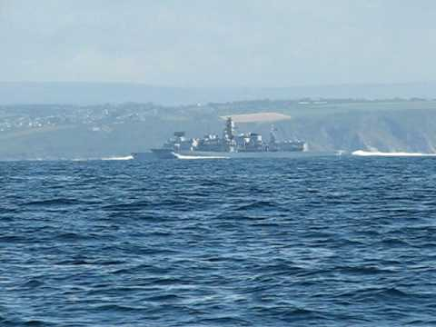 HMS Monmouth at speed