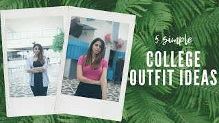 Simple COLLEGE OUTFITS! | What To Wear To College