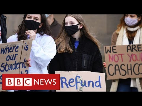 "University students protest across UK over ""lack of support"" during pandemic - BBC News"