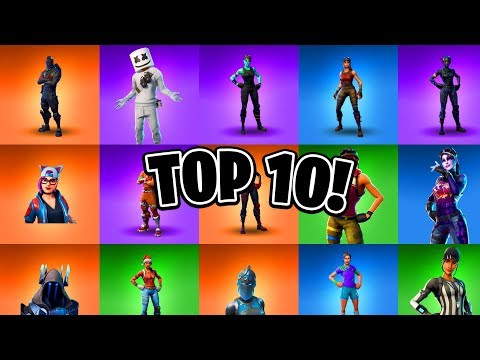 TOP 10 BEST FORTNITE SKINS! (According To The Community)