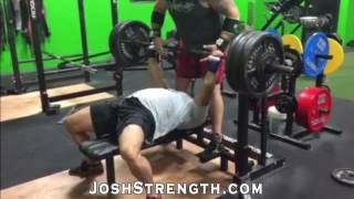 48 year old rene gargantra 510 raw bench press and 540 sling shot bench press