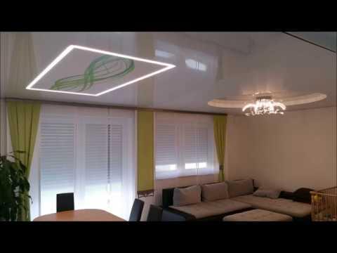 spanndecke im wohn esszimmer decken in design spanndecken youtube. Black Bedroom Furniture Sets. Home Design Ideas