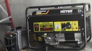 Бензогенератор Huter DY4000L + Ресанта САИ 160 ПН(Говорят , что надо очень дорогой, и очень тяжёлый генератор.. , чтоб варить от инвертора.. Да ну нафиг..)) и..., 2014-02-06T17:51:54.000Z)