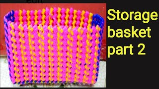 Plastic wire storage basket full clear vedio for begginers/part-2/plastic wire craft/Shoba handcraft