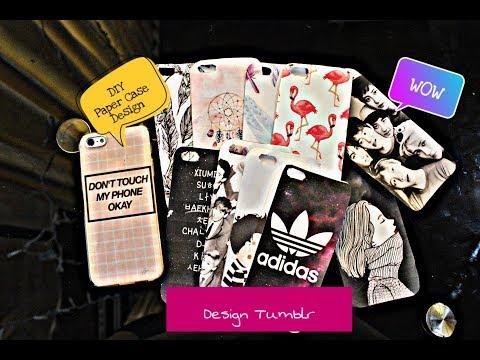 """DIY Paper Case Design """"Tumblr Design"""""""