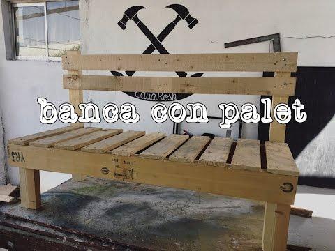 Banca con palet para ni os diy youtube for Muebles de jardin con tarimas