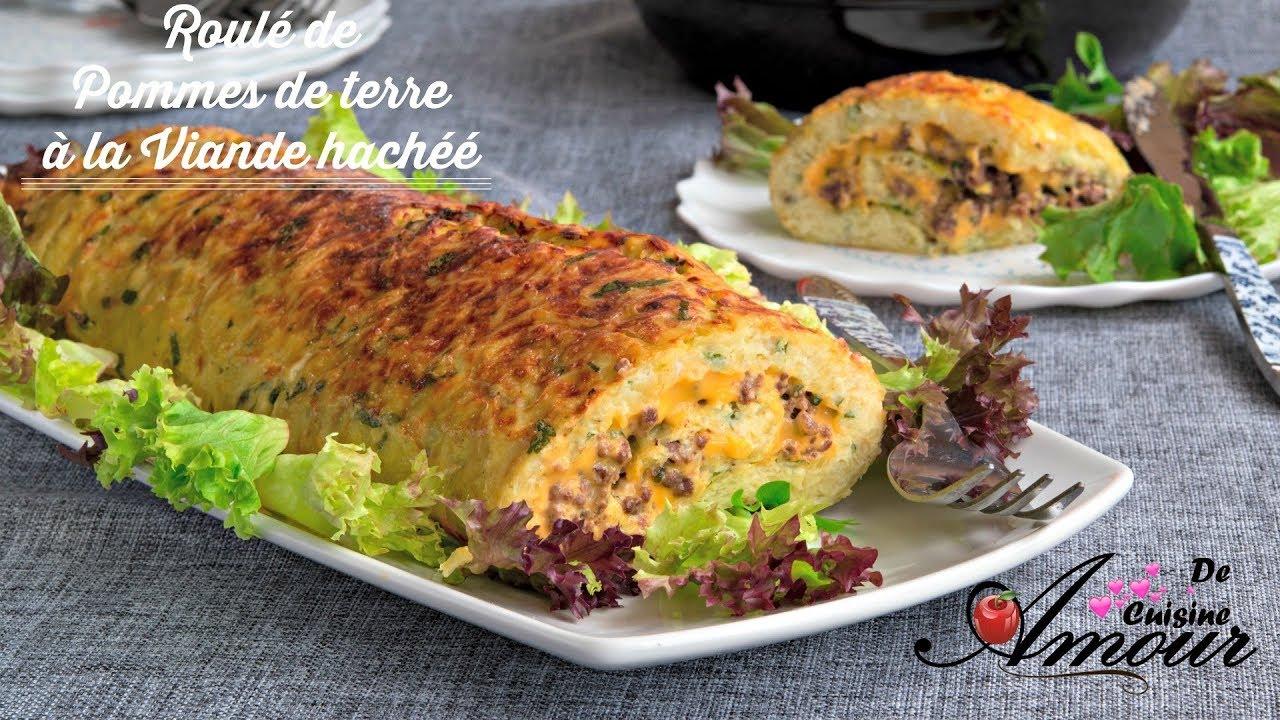 recette de roulé de pommes de terre à la viande hachée ...