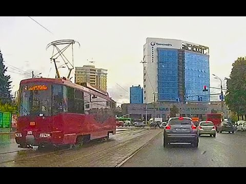 Driving Downtown   Rainy day drive in Kazan   Capital of Tatarstan Republic Russia