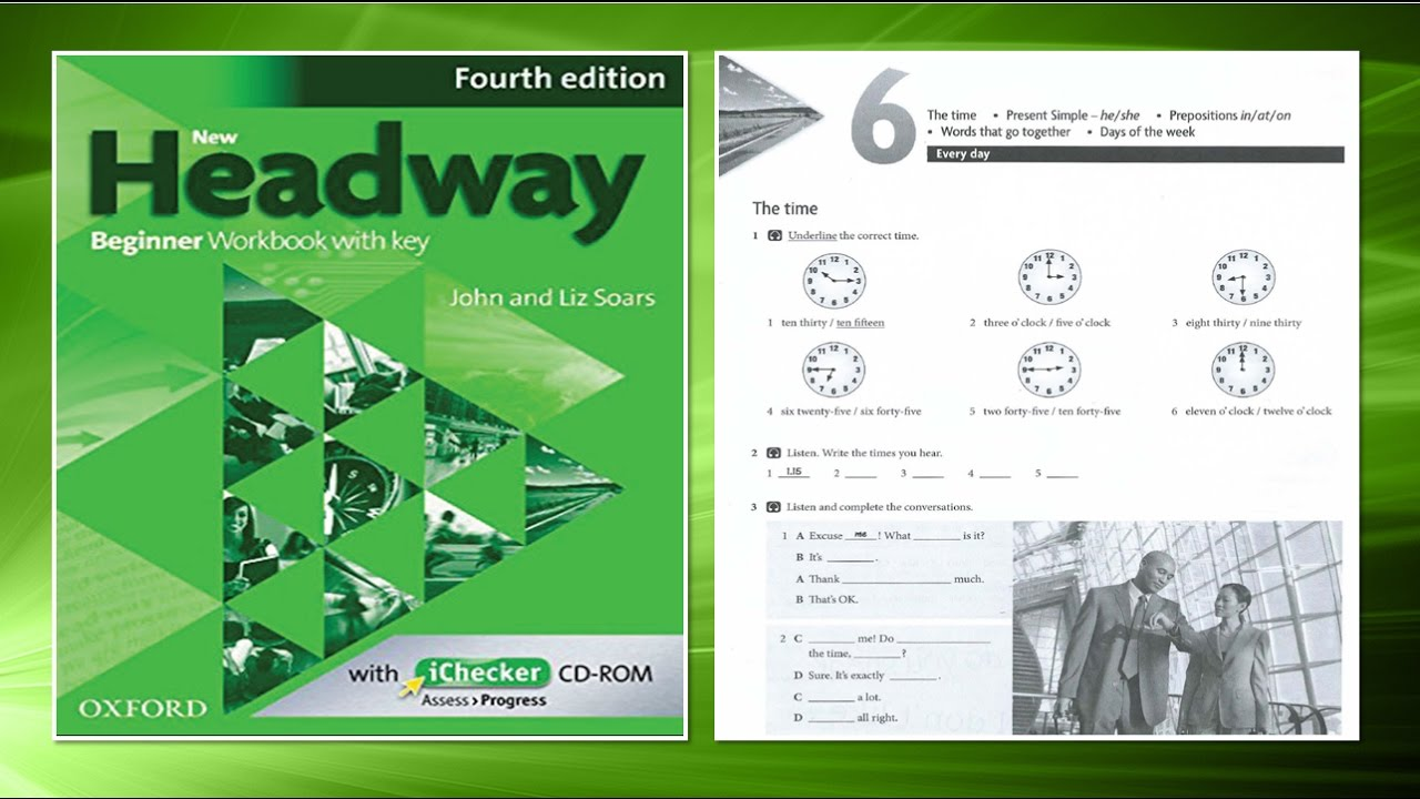 New Headway Beginner Exercise Book 4th Unit 06 Youtube