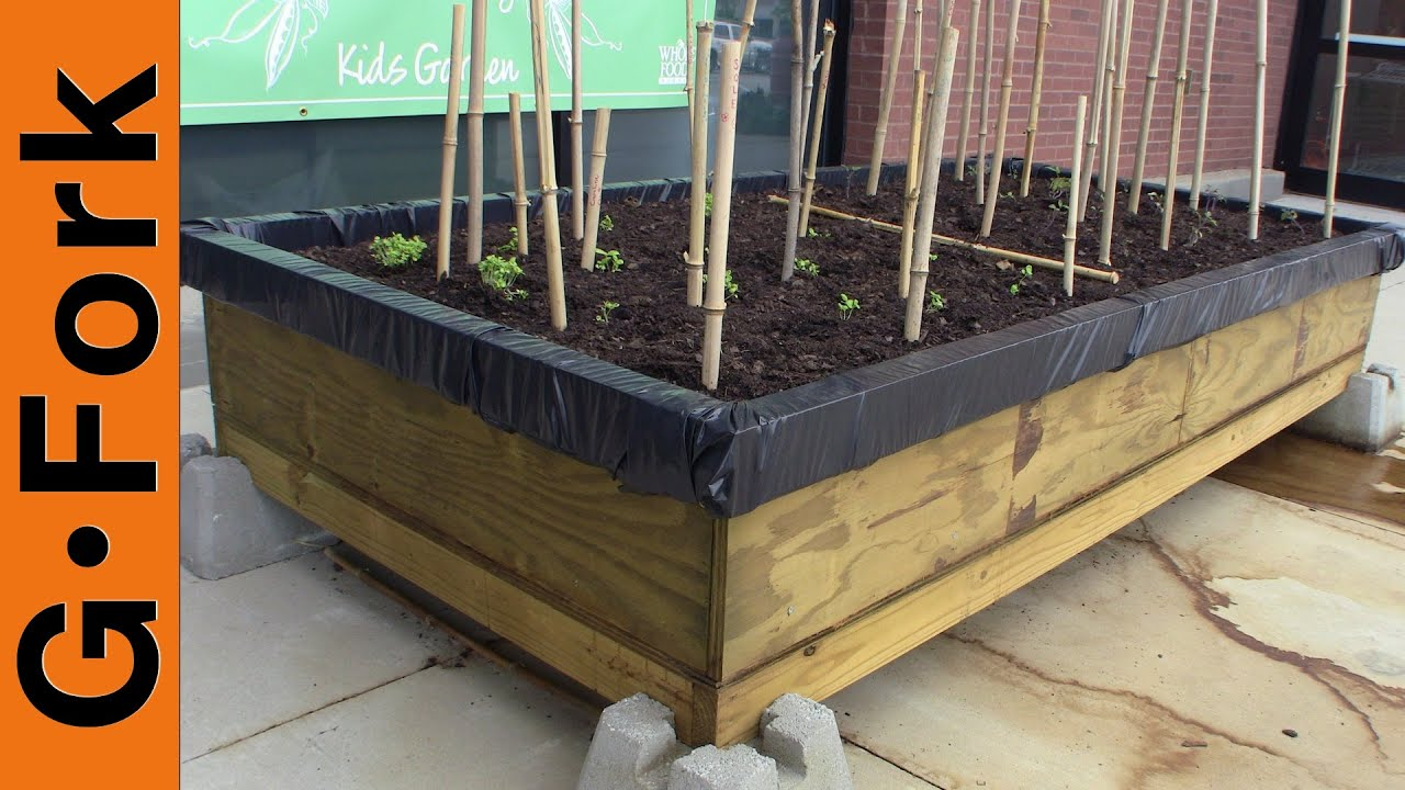 how to get drainage with raised beds