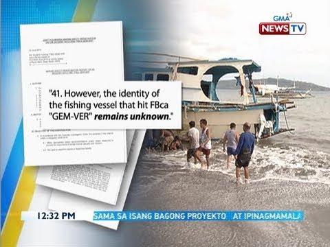 BT: Marina-PCG report, itinuturing na very serious marine casualty ang insidente sa Recto bank