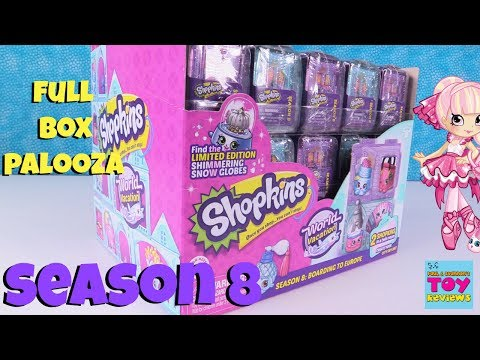Shopkins Season 8 Palooza Full Box 2 Packs Limited Edition Hunt Toy Opening | PSToyReviews