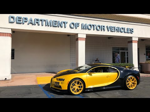 17 Year Old takes DMV Driver's Test in Bugatti Chiron