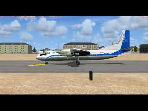 Microsoft Flight Simulator X: АН 24 Захват ILS и захват глиссады