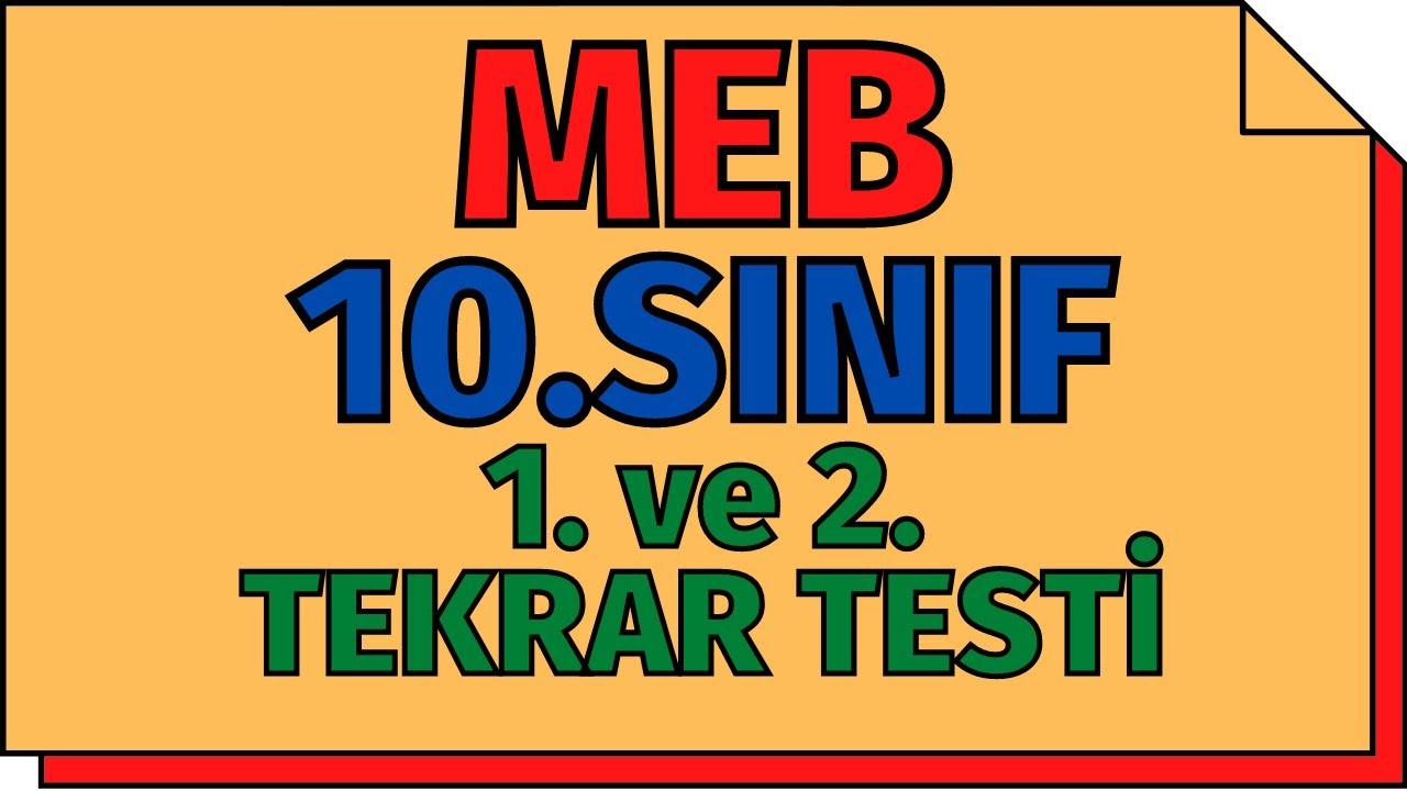 10.Sınıf Kimya 1.ve 2.Tekrar Testleri (Yeni Nesil Sorular) MEB   TYT 2020