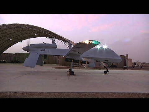The Gray Eagle UAV with Hellfire Missile