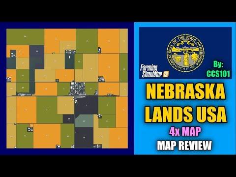 Nebraska Lands USA 4x Map Farming Simulator 19 Map Review