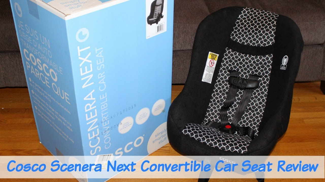 Cosco Scenera Next Convertible Car Seat Review - YouTube