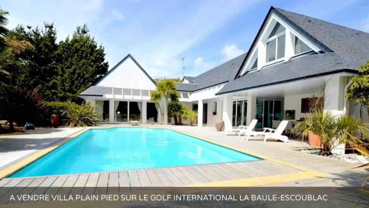 A Vendre Villa Plain Pied Sur Le Golf International La Baule Escoublac 44500 Youtube