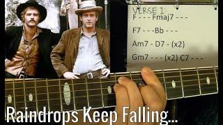 RAINDROPS KEEP FALLIN' ON MY HEAD - Guitar Lesson