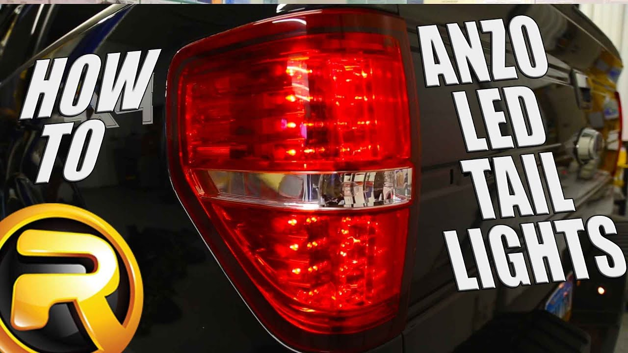 how to install led tail lights from anzo on a ford f150 [ 1280 x 720 Pixel ]
