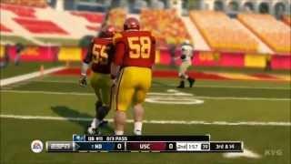 NCAA Football 14 - USC vs. Notre Dame Gameplay [HD]