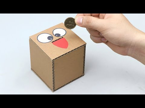 How to make Safe Box Saving Money from Cardboard