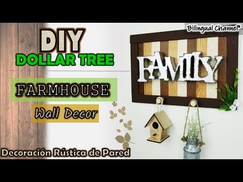 Dollar Tree DIY Farmhouse Wall Decor | Home Decor Dollar Tree DIY 2019 |