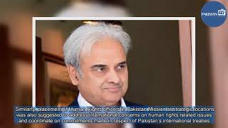 Interim PM briefed on situation of human rights in Pakistan