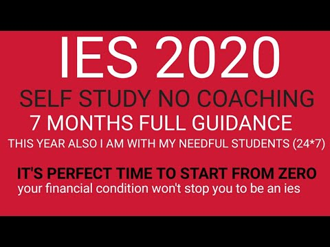 UPSC IES/ESE 2020 PRE STRATEGY 7 MONTHS...FRIENDSHIP WITH BOOKS