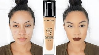 Full Coverage & 24 Hour?! | Lancome Teint Idole Ultra 24H Foundation Review + Demo