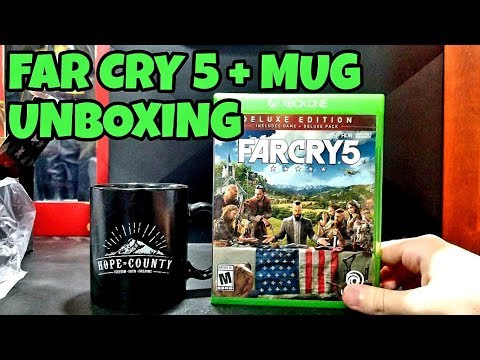 FAR CRY 5 Deluxe Edition + LIMITED EDITION MUG UNBOXING! (Preorder bonus)