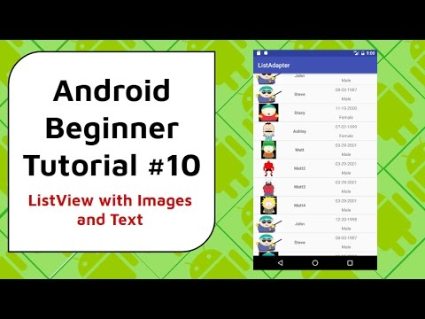 Android Beginner Tutorial #10 - ListView with Images and Text [Scroll With  NO Lag]