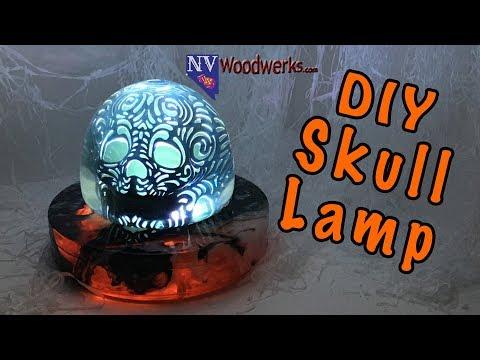 DIY Skull Lamp Halloween Decoration